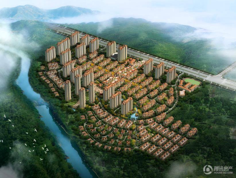 正商红河谷项目鸟瞰图