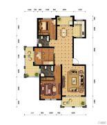 中原国际3室2厅2卫0平方米户型图