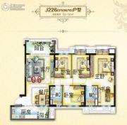 碧桂园・翡翠山4室2厅2卫132--137平方米户型图