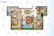 宜化绿洲新城3室2厅2卫114平方米户型图