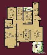 正诚阳光花墅3室2厅2卫152--156平方米户型图