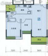 南华时代城2室2厅1卫85平方米户型图