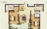 炜赋星湖邻里2室2厅2卫98平方米户型图