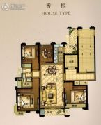 华瑞府4室2厅2卫127平方米户型图