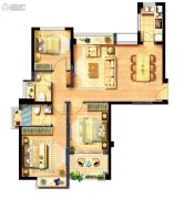 西海岸广场3室2厅2卫98平方米户型图
