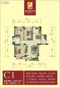 阳光新干线3室2厅1卫95平方米户型图