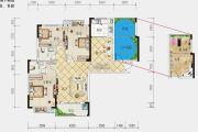 港锦新城5室2厅2卫138平方米户型图