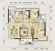 海天瑶3室2厅2卫91平方米户型图