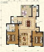 保利叶语2室2厅2卫105平方米户型图