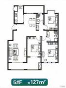 展恒怡和国际3室2厅2卫127平方米户型图