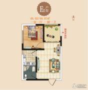 天鹅第一城1室1厅1卫48--49平方米户型图