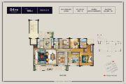 华鸿・万象公馆5室2厅2卫166平方米户型图