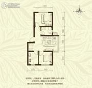 新城国际2室2厅1卫68平方米户型图
