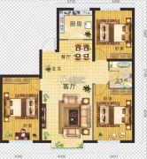 金地・红大蓝湾3室2厅1卫106平方米户型图