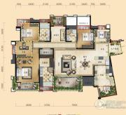 三利云锦5室2厅3卫222平方米户型图