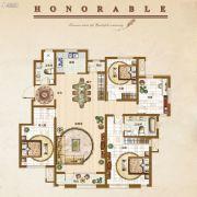 �锦世家3室2厅2卫165平方米户型图