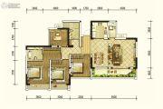北京城建龙樾熙城4室2厅2卫129平方米户型图
