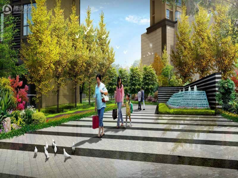 绿林书院内庭环境效果图