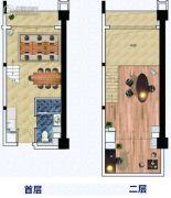 富力天海湾0室0厅0卫40平方米户型图