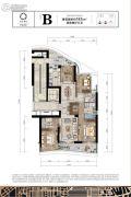 保亿绿城奥邸国际4室2厅3卫185平方米户型图