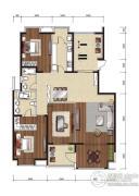 影人四季花园3室2厅2卫150平方米户型图