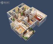 台北城上城2室2厅2卫122平方米户型图