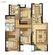 蓝光天悦城4室2厅2卫120平方米户型图