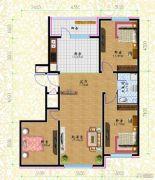 黎明荣府3室1厅1卫83平方米户型图