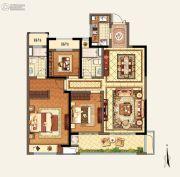 玉环新城吾悦广场3室2厅2卫128平方米户型图
