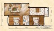 金山翰林苑2室2厅1卫100平方米户型图