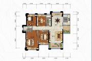 中泰上境4室2厅2卫135平方米户型图