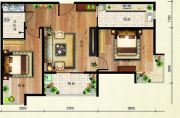 欢乐颂2室1厅1卫81平方米户型图