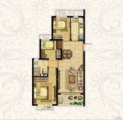 恒大御景湾3室2厅1卫94平方米户型图