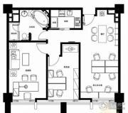 无锡恒大财富中心2室2厅1卫110平方米户型图