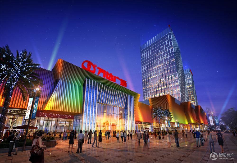 漳州角美万达广场项目效果图-商业入口
