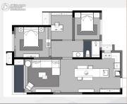 卓越浅水湾3室2厅1卫92平方米户型图