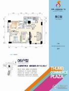 大拇指商业广场3室2厅2卫118平方米户型图