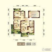 峨眉半山七里坪2室2厅2卫45平方米户型图