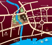 中冶玉带湾交通图