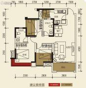 保利玫瑰花语3室2厅2卫88平方米户型图