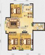 金地・红大蓝湾3室2厅1卫102平方米户型图