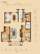 东城人家3室2厅2卫142平方米户型图