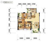 国鑫凤垭山3室2厅2卫99平方米户型图