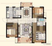 中航国际社区3室2厅2卫115平方米户型图
