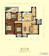 金域明珠3室2厅2卫157平方米户型图