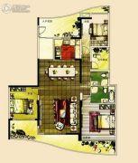 宝德时代华府3室2厅2卫186平方米户型图