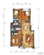 鸿通海上威尼斯3室2厅2卫85平方米户型图