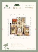 格兰上郡3室2厅2卫103平方米户型图