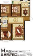 润泓・星林郡3室2厅2卫129平方米户型图