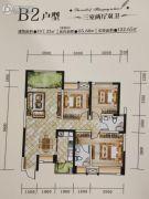 神州南都三期3室2厅2卫107平方米户型图